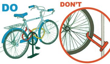 bicicleta mal candada